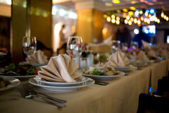 BANQUET TABLE Stock Photos