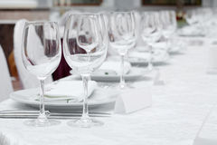 Banquet table Stock Image