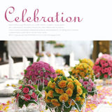Banquet table. Decorated with flowers. Copy space Royalty Free Stock Image
