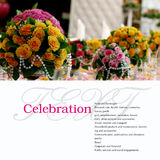 Banquet table. Decorated with flowers. Copy space Stock Photos