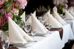 Banquet table Royalty Free Stock Photos