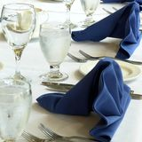 Banquet Table. Place settings at a banquet royalty free stock photos