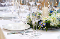 Banquet table Royalty Free Stock Images