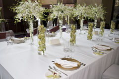 Banquet table. Setting for wedding in china Royalty Free Stock Photo