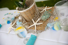 Banquet Table At The Beach Royalty Free Stock Images