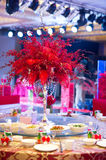 Banquet table. Beautiful spent banquet table decoration Royalty Free Stock Photography