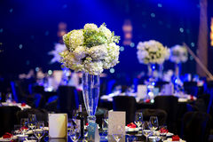 Banquet table. Beautiful spent banquet table decoration Stock Photo