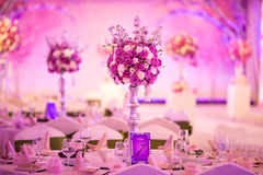 Banquet table. Beautiful spent banquet table decoration Stock Photos