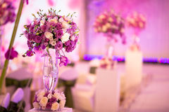 Banquet table. Beautiful spent banquet table decoration Stock Image