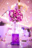 Banquet table. Beautiful spent banquet table decoration Stock Photography