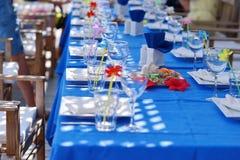 Banquet table Stock Photos