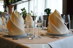Banquet table in a restaurant Stock Photography