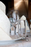 Banquet table in a restaurant Royalty Free Stock Photo