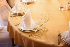 Banquet table in the restaurant Royalty Free Stock Photo