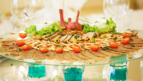 The banquet table in restaurant Stock Photos