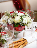 Banquet table setting. Royalty Free Stock Photos
