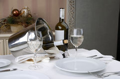 Banquet table setting Royalty Free Stock Photo