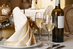 Banquet table setting Royalty Free Stock Photography