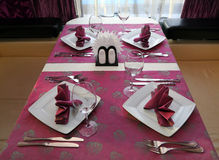 Banquet table setting Stock Images