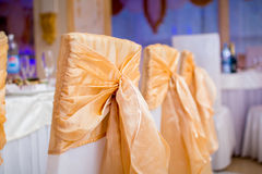 Banquet table setting at restaurant Royalty Free Stock Photo