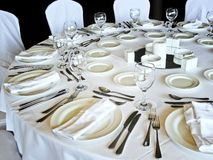 Banquet Table Settings Stock Photos