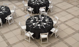Banquet table for social event Stock Photo