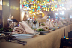 BANQUET TABLE Stock Photography