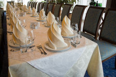 BANQUET TABLE Royalty Free Stock Image