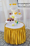 Banquet table with drinks Stock Image