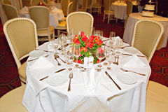 Banquet Tables Royalty Free Stock Photo
