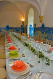 Banquet Tables Decoration, Dinner Party Event Stock Photography