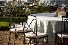 Banquet tables Stock Photos