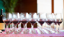 Banquet and Wedding Champagne glasses Royalty Free Stock Photos