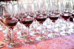 Banquet and Wedding Champagne glasses Stock Photography