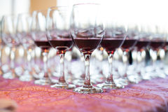 Banquet and Wedding Champagne glasses Stock Images