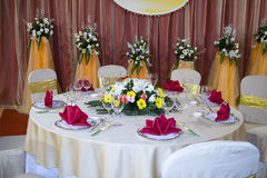Banquet wedding table Stock Image