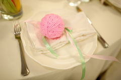 Banquet wedding table setting Stock Photography