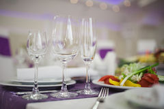 Banquet wedding table setting Royalty Free Stock Photo