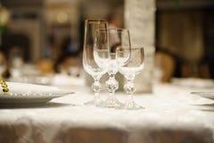 Banquet wedding table setting Royalty Free Stock Photos