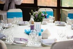 Banquet wedding table setting Stock Photos