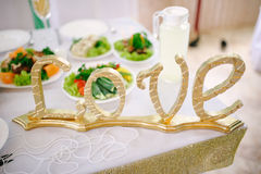Banquet wedding table setting Stock Image