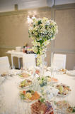Banquet wedding table setting Stock Images