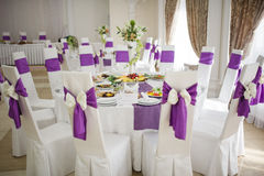 Banquet wedding table setting Royalty Free Stock Photos