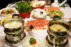 Banquete caliente chino del crisol Fotos de archivo libres de regalías