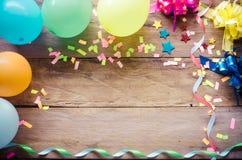 Banquete, celebración, accesorios de la decoración para el partido Imagen de archivo