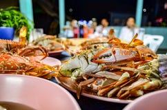 Banquete cocido al vapor del cangrejo Imagen de archivo
