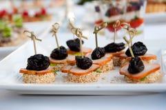 Banquete, comida de lujo para holyday y evento Fotos de archivo libres de regalías