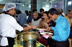 Banquete de boda bengalí Imágenes de archivo libres de regalías