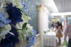 Banquete de boda con el fondo de la falta de definición Imagen de archivo libre de regalías