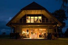 Banquete de boda en casa Foto de archivo libre de regalías